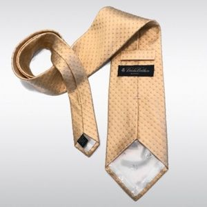 Brooks Brothers Makers Pure Silk Yellow Tie